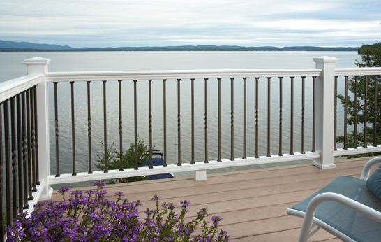 CertainTeed Panorama White Steel Balusters