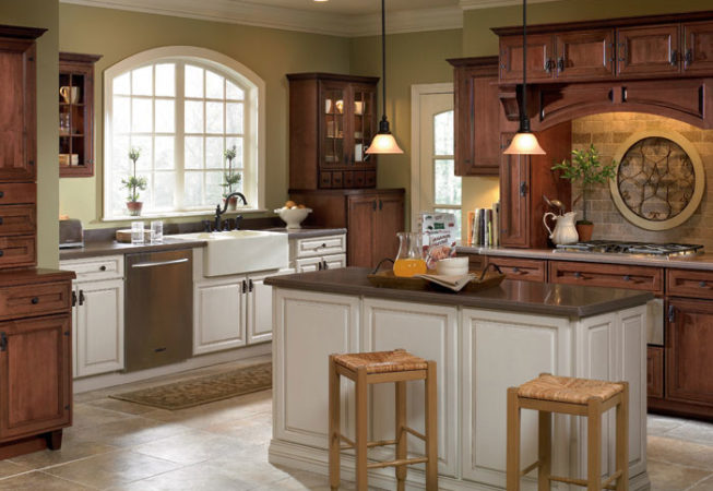 Schrock White Cabinets and White Base Island