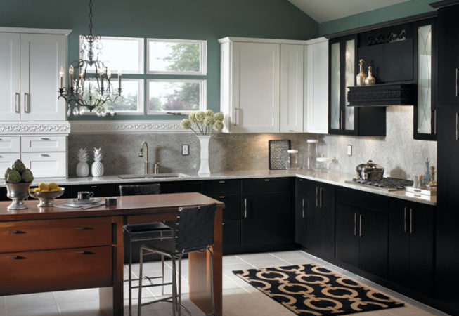 Black and White Contemporary Kitchen Cabinets